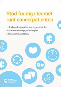 Framsida på broschyren Stöd för dig i cancervården